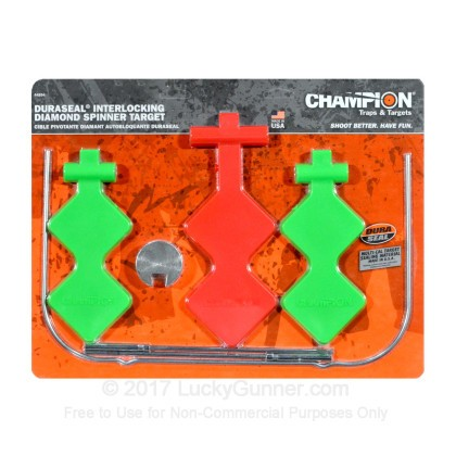Large image of Champion Duraseal Spinner Targets For Sale - Red and Green Interlocking Self-Healing Diamond Spinner Target In Stock