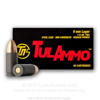 Image 4 of Tula Cartridge Works 9mm Luger (9x19) Ammo