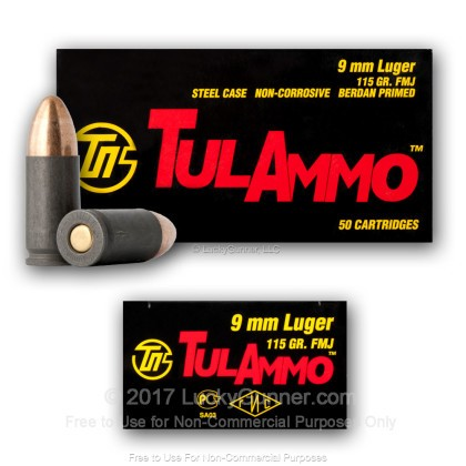 Image 5 of Tula Cartridge Works 9mm Luger (9x19) Ammo