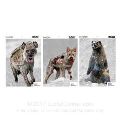 Large image of Champion VisiColor Zombie Vicious Animals Targets For Sale - Reactive Indicator Targets In Stock