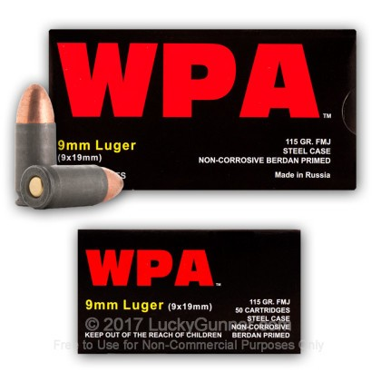 Image 9 of Wolf 9mm Luger (9x19) Ammo