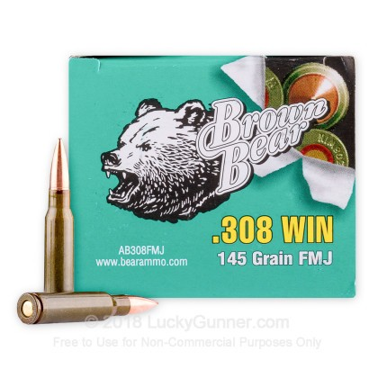 Image 2 of Brown Bear .308 (7.62X51) Ammo