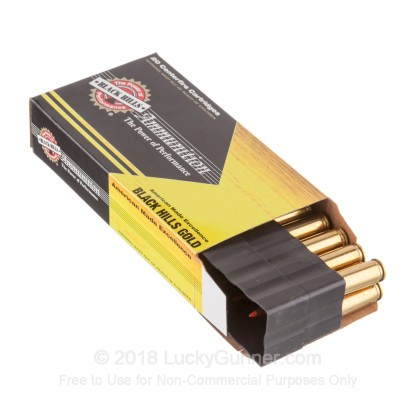 Large image of Premium 243 Ammo For Sale - 80 Grain Hornady GMX Ammunition in Stock by Black Hills Gold - 20 Rounds
