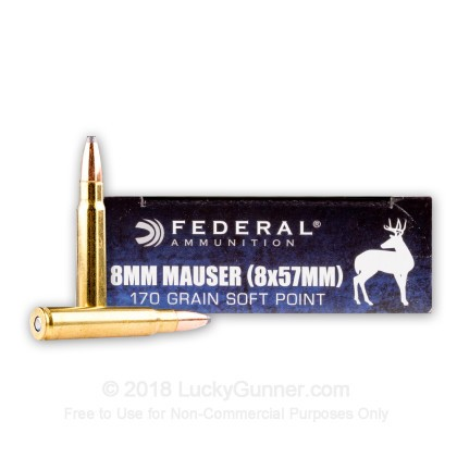 Image 1 of Federal 8mm Mauser (8x57mm JS) Ammo