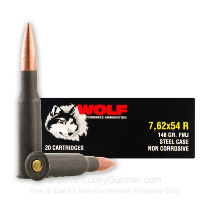 Image 2 of Wolf 7.62x54r Ammo