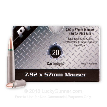Image 1 of PW Arms 8mm Mauser (8x57mm JS) Ammo