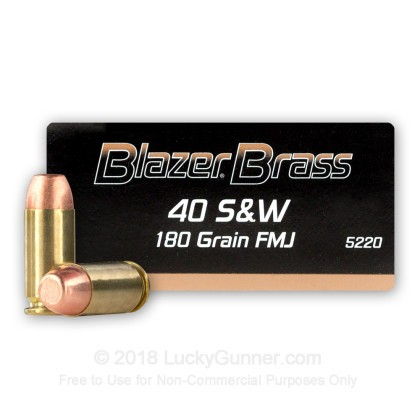 Image 1 of Blazer Brass .40 S&W (Smith & Wesson) Ammo