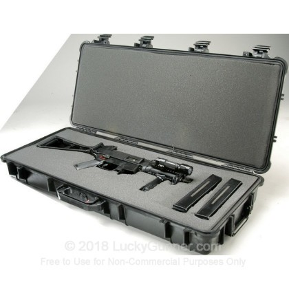 Large image of Pelican 1700 Hard Rifle Case With Wheels For Sale - Black