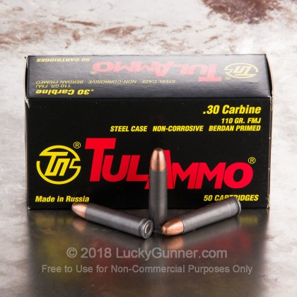 Image 4 of Tula Cartridge Works 30 Carbine Ammo