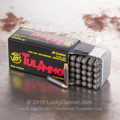 Image 6 of Tula Cartridge Works 30 Carbine Ammo
