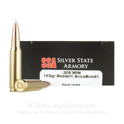 Image 1 of Silver State Armory .308 (7.62X51) Ammo