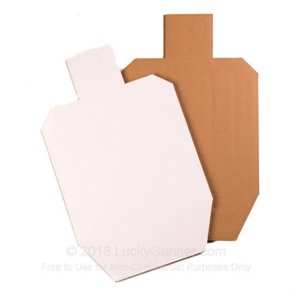 Large image of Premium Cardboard Targets For Sale - IPSC/USPSA Metric Silhouettes in Stock by Target Barn - 25 Count