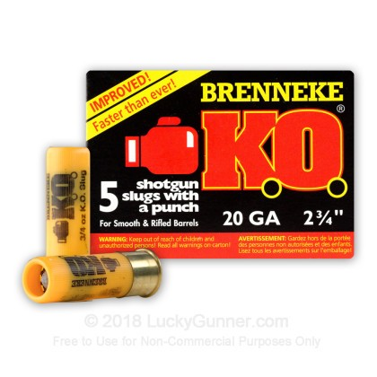 Image 2 of Brenneke Slugs 20 Gauge Ammo