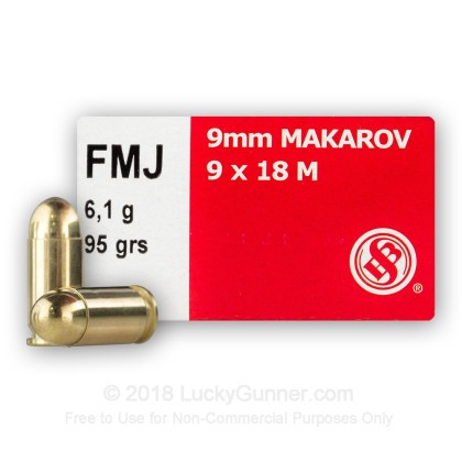 Image 2 of Sellier & Bellot 9mm Makarov (9x18mm) Ammo