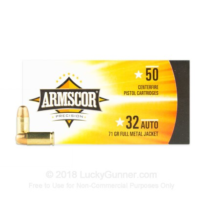 Large image of Cheap .32 ACP Ammo - Armscor  71gr FMJ - 50 Rounds