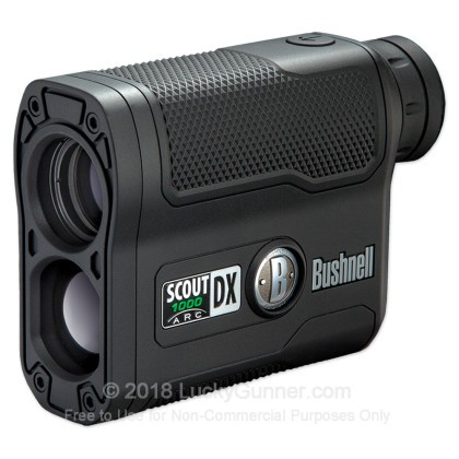 Large image of Bushnell Scout DX 1000 Rangefinder - 5-1000 Yards - Rifle & Bow Modes - 202355 - Black - In Stock - Luckygunner.com