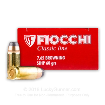 Large image of Bulk 32 ACP Ammo For Sale - 60 Grain SJHP Ammunition in Stock by Fiocchi Classic  - 1000 Rounds