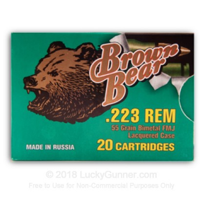 Image 3 of Brown Bear .223 Remington Ammo