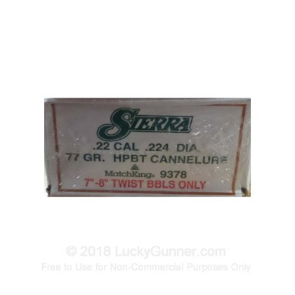 Large image of Bulk 223 Rem (.224) Ammo For Sale - 77 Grain HPBT MatchKing Ammunition in Stock by Sierra - 500