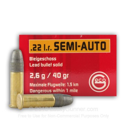 Image 1 of GECO .22 Long Rifle (LR) Ammo