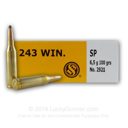 Image 3 of Sellier & Bellot .243 Winchester Ammo