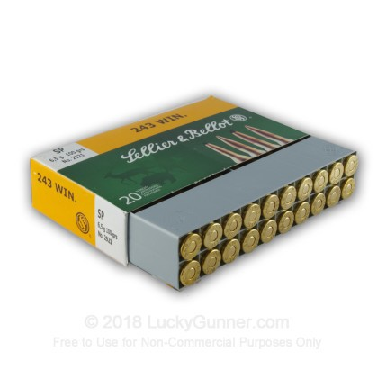 Image 2 of Sellier & Bellot .243 Winchester Ammo