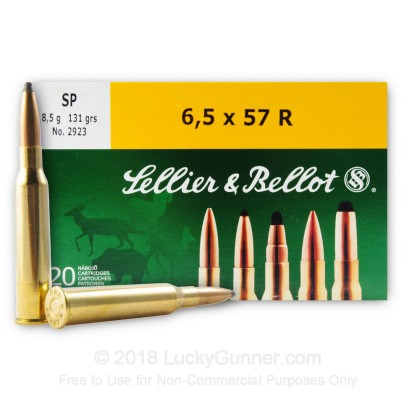 Image 2 of Sellier & Bellot 6.5x57 Rimmed Ammo