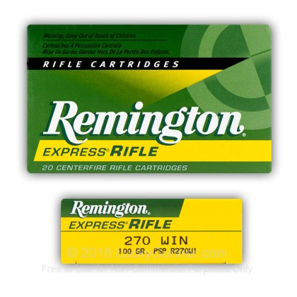Image 5 of Remington .270 Winchester Ammo