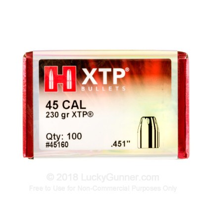 Large image of Hornady 45 ACP Bullets For Sale - 45 Auto 230gr JHP XTP bullets by Hornady