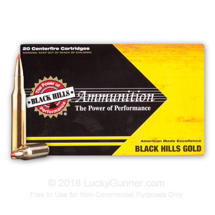 Large image of Premium 270 Ammo For Sale - 130 Grain Hornady GMX Ammunition in Stock by Black Hills Gold - 20 Rounds