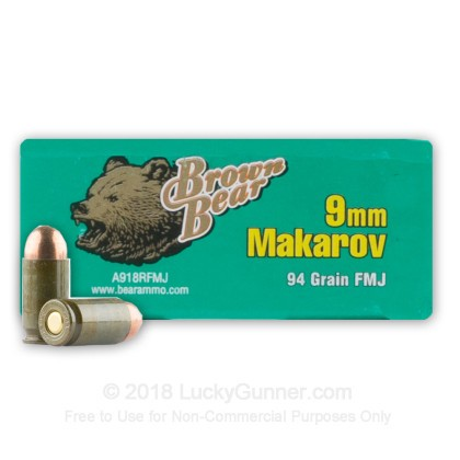 Image 2 of Brown Bear 9mm Makarov (9x18mm) Ammo