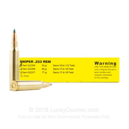 Image 1 of Buffalo Bore .223 Remington Ammo