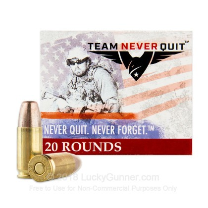 Image 2 of Team Never Quit 9mm Luger (9x19) Ammo