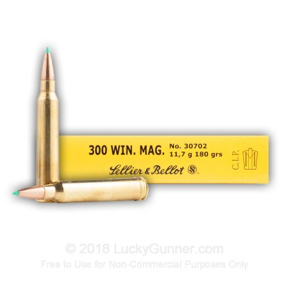 Image 3 of Sellier & Bellot .300 Winchester Magnum Ammo