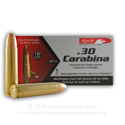 Image 2 of Aguila 30 Carbine Ammo