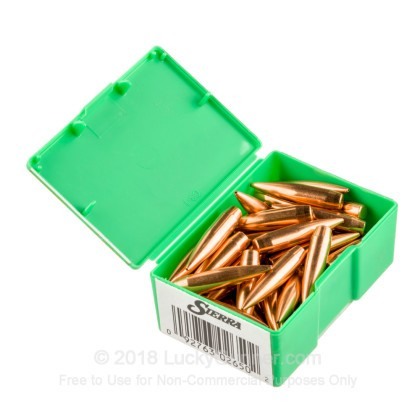 "Large image of Bulk 338 Lapua (.338"")  Bullets for Sale - 250 Grain HPBT Bullets in Stock by Sierra - 50"