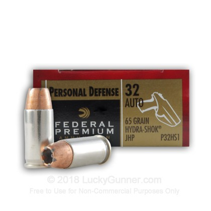 Image 1 of Federal .32 Auto (ACP) Ammo