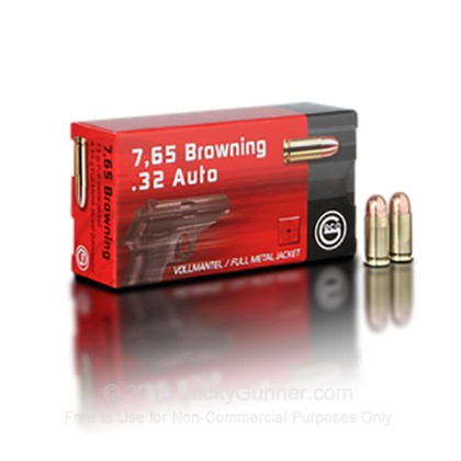 Large image of Bulk 32 ACP Ammo For Sale - 73 gr FMJ - GECO Ammunition For Sale - 1000 Rounds