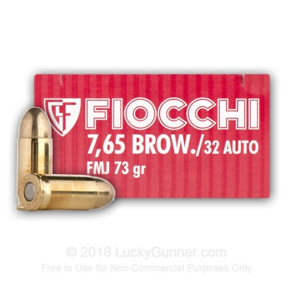 Large image of 32 ACP Ammo - 73 gr FMJ - Fiocchi - 1,000 Rounds