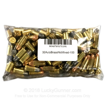 Large image of Cheap 32 ACP Ammo For Sale - Mixed Load Ammunition in Stock by Various Manufacturers - 100 Rounds