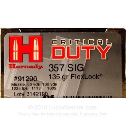 Image 1 of Hornady .357 Sig Ammo