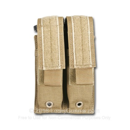 Large image of Double Magazine Pouch MOLLE Loop Pistol Blackhawk Coyote Tan For Sale