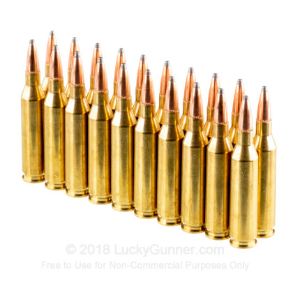 Large image of Cheap 243 Win Ammo In Stock  - 100 gr Hornady American Whitetail SP Interlock Ammunition For Sale Online - 20 Rounds