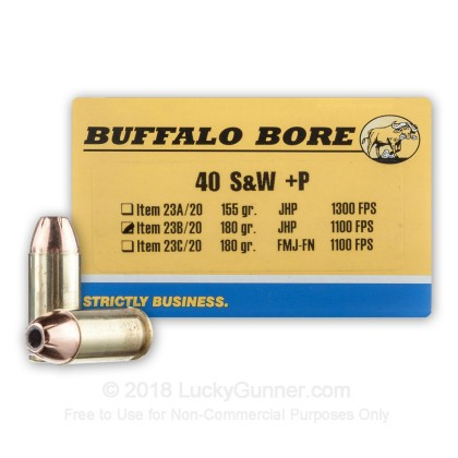 Image 1 of Buffalo Bore .40 S&W (Smith & Wesson) Ammo