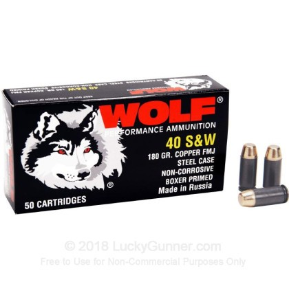 Image 1 of Wolf .40 S&W (Smith & Wesson) Ammo