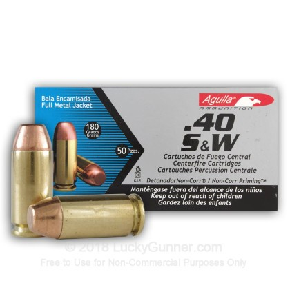 Image 2 of Aguila .40 S&W (Smith & Wesson) Ammo