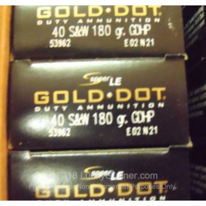 Image 2 of Speer .40 S&W (Smith & Wesson) Ammo