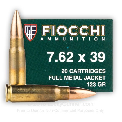 Image 2 of Fiocchi 7.62X39 Ammo