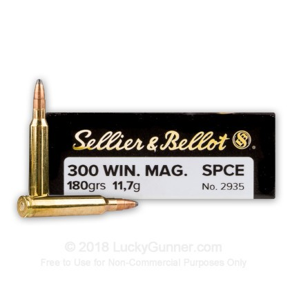 Image 1 of Sellier & Bellot .300 Winchester Magnum Ammo