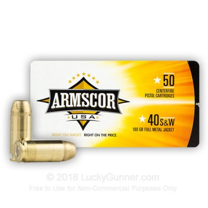 Image 2 of Armscor .40 S&W (Smith & Wesson) Ammo